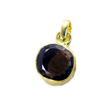 attractive Smoky Quartz Gold Plated Brown Pendant Fashion suppiler US - $5.93