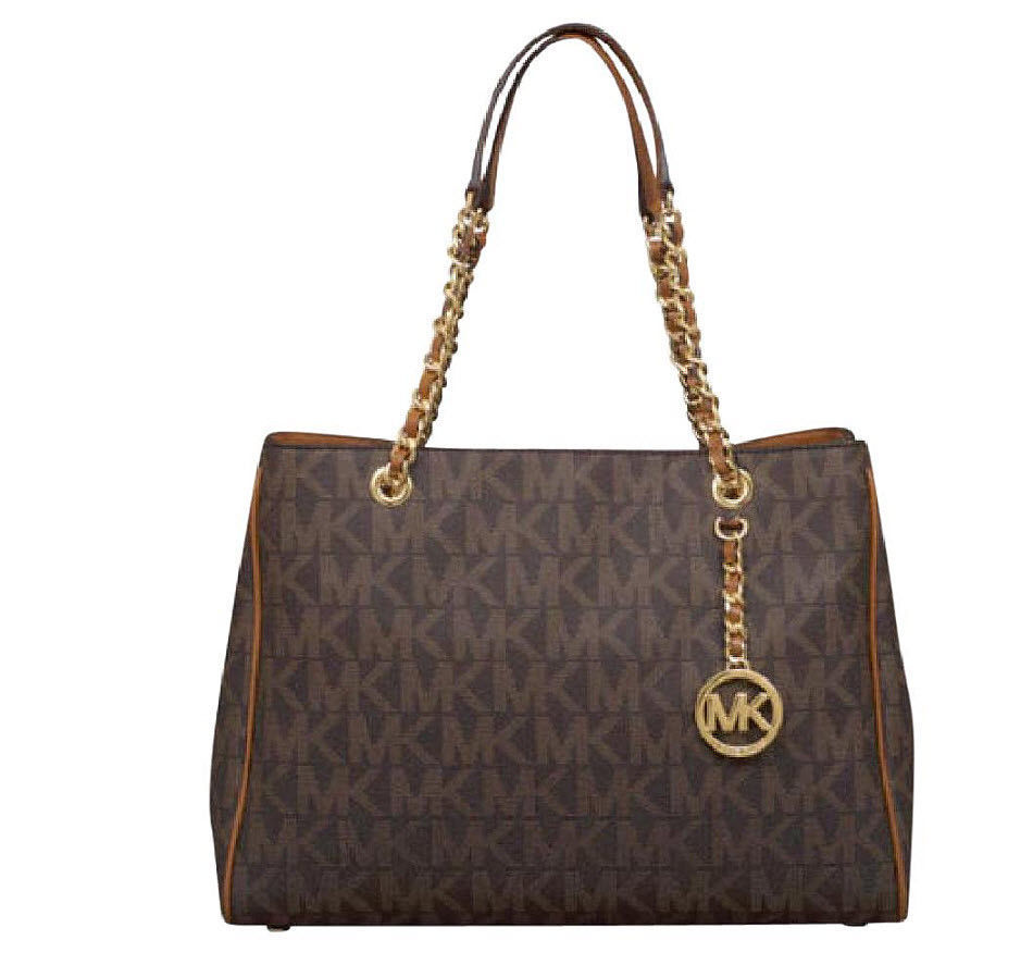 4811e85f91122f Michael Kors Brown Susannah Large Tote and 50 similar items. S l1600