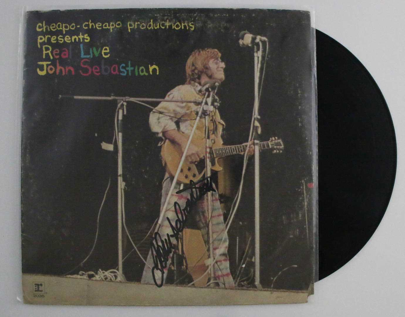 "Primary image for John Sebastian Signed Autographed ""Real Live"" Record Album"