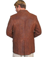 Classic men leather blazer - $260.00