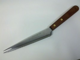 Ekco Viscount Stainless Steel Wooden Handheld Angled Knife - $13.86