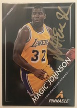 Magic Johnson Signed Autographed 2014 Pinnacle Basketball Card - Los Ang... - $19.99