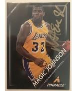 Magic Johnson Signed Autographed 2014 Pinnacle Basketball Card - Los Ang... - $19.99