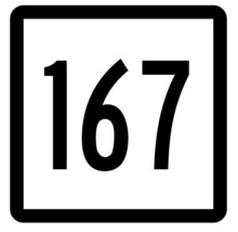 Connecticut State Highway 167 Sticker Decal R5178 Highway Route Sign - $1.45+