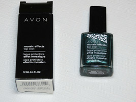 Avon Mosaic Effects Top Coat Gleaming Emerald 12 ml 0.4 fl oz polish mani pedi - $10.67