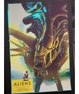 Aliens - Cristian Eres 24x36 Poster FOIL Edition Screen Print - Grey Mat... - $142.45
