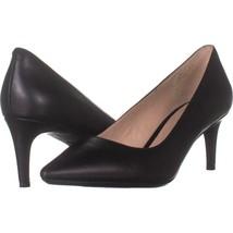 Nine West Soho9x9 Kitten Heel Pumps 791, Black Leather, 7.5 US - $23.99