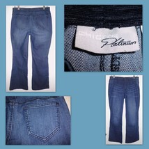 CHICO'S PLATINUM Blue Stretch Midrise Boot Cut Jeggings Jeans 31-37W Wom... - $21.77