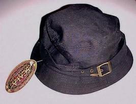Scala Collezione Dorfman Pacific Company Black Beach Boater Hat One Size... - $39.59
