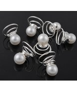 Single White Pearl Hair Twists (pack of 12) - $19.96