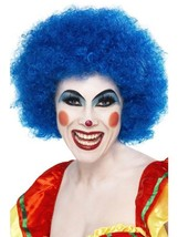 Short Blue Afro Wig, Clown Wig, Blue. Circus Fancy Dress Accessory - $5.21