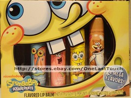 LOTTA LUV* 4pc Gift Set SPONGEBOB Lip Balm MEGA/BIGGY Berry+Strawberry+M... - $8.99