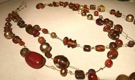 Unique 3 Strand Treasure Necklace w/ Pearls Stones Murano Glass and MUCH MORE! image 3