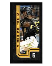 "Starling Marte Pittsburgh Pirates - 6.75"" x 13"" Miniframed Photo Montage - $38.95"