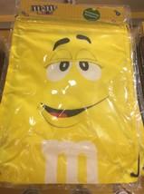M&M's World Yellow Nylon Drawstring Backpack New Sealed - $12.46