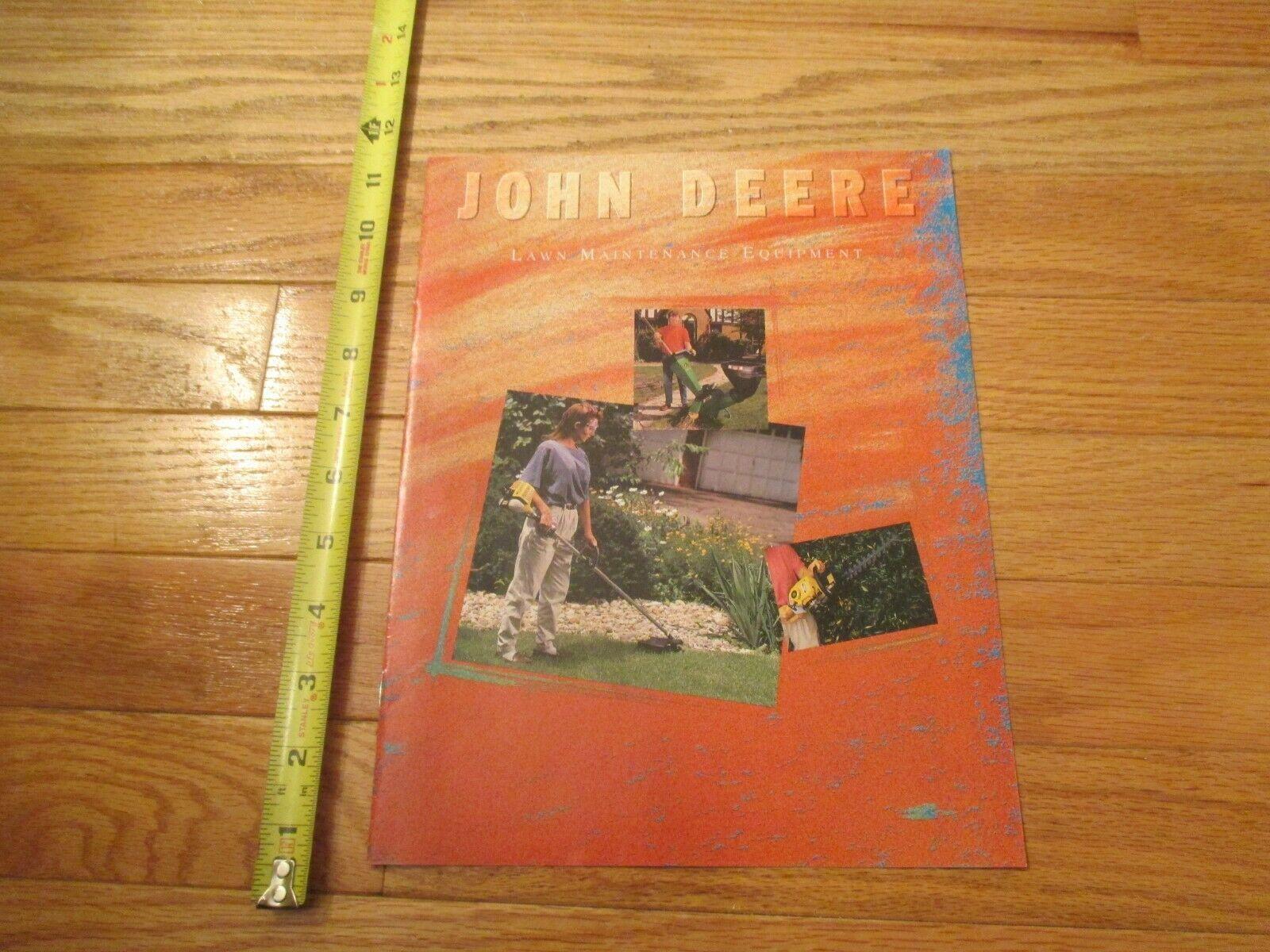 John Deere Lawn Maintenance Equipment Vintage Dealer sales brochure - $14.99