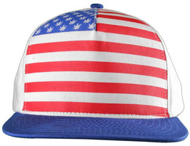 Dope Couture Pledge Legion USA Weed Marijana Stars Stripes Flag Snapback Hat