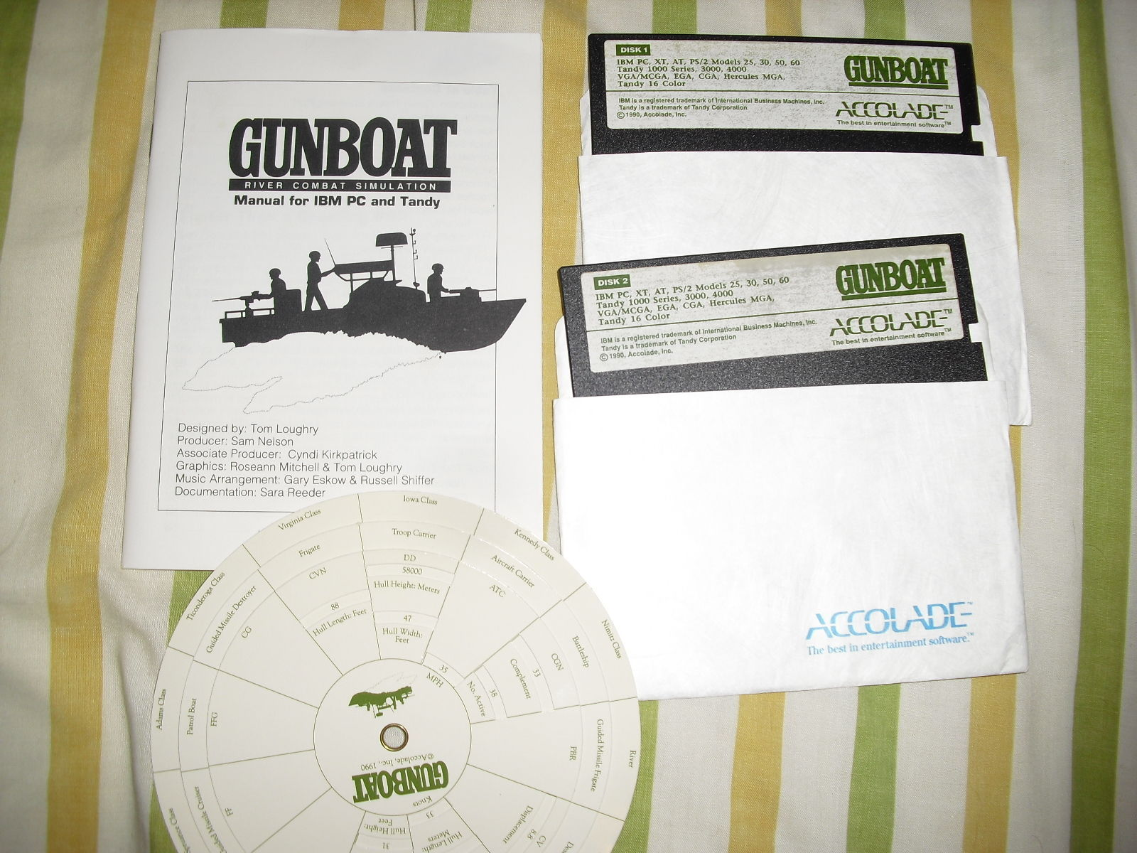Primary image for USED GUNBOAT 1990 Accolade IBM Tandy PC Vintage Computer Game
