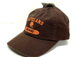 "Cleveland Browns Vintage NFL ""Aged"" Unstructured Brown Cap (New) By American Nee - $21.99"