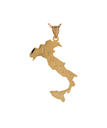 10K or 14K Yellow Gold Italy Map Pendant - $223.99+