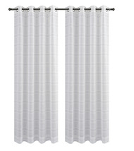 Urbanest Chamon Set of 2 Sheer Curtain Drapery Panels with Grommets image 2