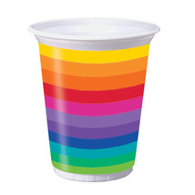 Rainbow 16 Oz Plastic Cups, Case of 96 - $59.65
