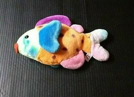 TY Beanie Baby Buddies Tie Dye Fish Lips Plush Stuffed Animal Vintage 1999 - $16.21