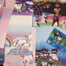 32 Pc Lisa Frank Stationery Raccoons Markie Elephant Bees Stickers Postalette image 7