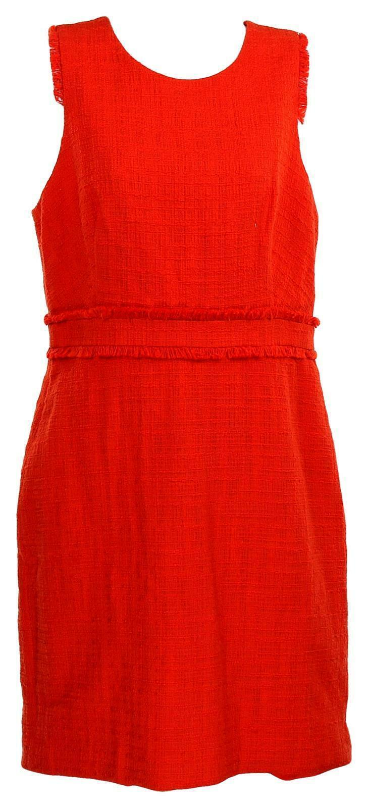 Primary image for J Crew Women's Sleeveless Sheath Dress Tweed Suiting Career Work Red 8 H7911