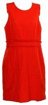 J Crew Women's Sleeveless Sheath Dress Tweed Suiting Career Work Red 8 H... - $64.39