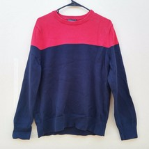 Express Blue Red Crew Neck Men's Sweater Size Large L - $14.99