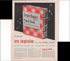 Better Homes And Gardens Cook Book New Inspiration For Holiday Dinners 1948 Vint - $3.25