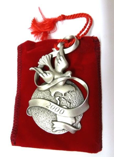 Avon 2021 Pewter Christmas Ornament Christmas Ornament 2000 Avon Pewter Peaceful And 22 Similar Items