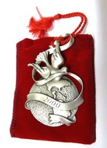 Christmas Ornament 2000 Avon Pewter Peaceful Millennium Dove Holiday Bagged - $14.52