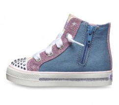 S Sport by Skechers Toddler Girls Pink Raelynn Light-Up Hi-Top Shoes Sneakers image 3