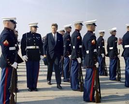 President John F. Kennedy inspects Marine Corps Honor Guard New 8x10 Photo - $8.81