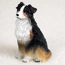 AUSTRALIAN SHEPHERD AUSSIE tri color TINY ONES DOG Figurine Statue Pet R... - $8.99