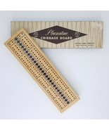 Pleasantime Cribbage Board 705 Wooden 2 Tracks With Pegs 10 Inch Pacific... - $9.99