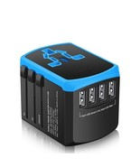 Universal Power Adapter Travel With Smart 2.4a USB Charger Uk Us Convert... - $33.99