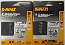 DEWALT DWAM4321 80 Grit 1/4 Sheet Mesh Sandpaper (2 Packs of 5) 10 Sheets - $2.97