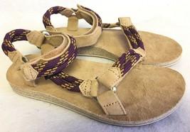 Teva Womens Original Universal Rope Suede Footbed Sandals Dark Purple 10... - $59.99
