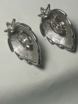 Vintage Sarah Coventry clip-on earrings with faceted stone - $11.88