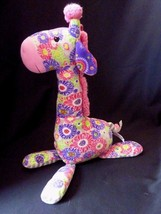 "MARY MEYER Giraffe Flowers Plush Stuffed Animal 17"" tall - $17.59"