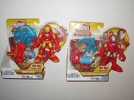 Playskool Heroes Iron Man Adventures Silver Centurion & Iron Man Figures - $21.84