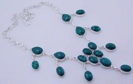 Malachite Silver Overlay Handmade Jewelry Necklace JH-28-15/120 - $21.77