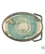 Antarctica Map Belt Buckle New - $7.52