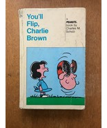 Peanuts Charlie Brown HC Book 1967 You'll Flip & You Can Do It Charles S... - $12.19