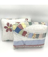 JCPenney Home 2 King Pillow Shams Patchwork Quilted Ring 72204830018 Red... - $49.95