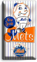 RETRO MR MET NEW YORK METS BASEBALL TEAM LIGHT DIMMER CABLE PLATE ROOM A... - $10.99