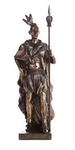 Indian Warrior with Traditional Costume and Weapon Collectible Figurine ... - $39.59